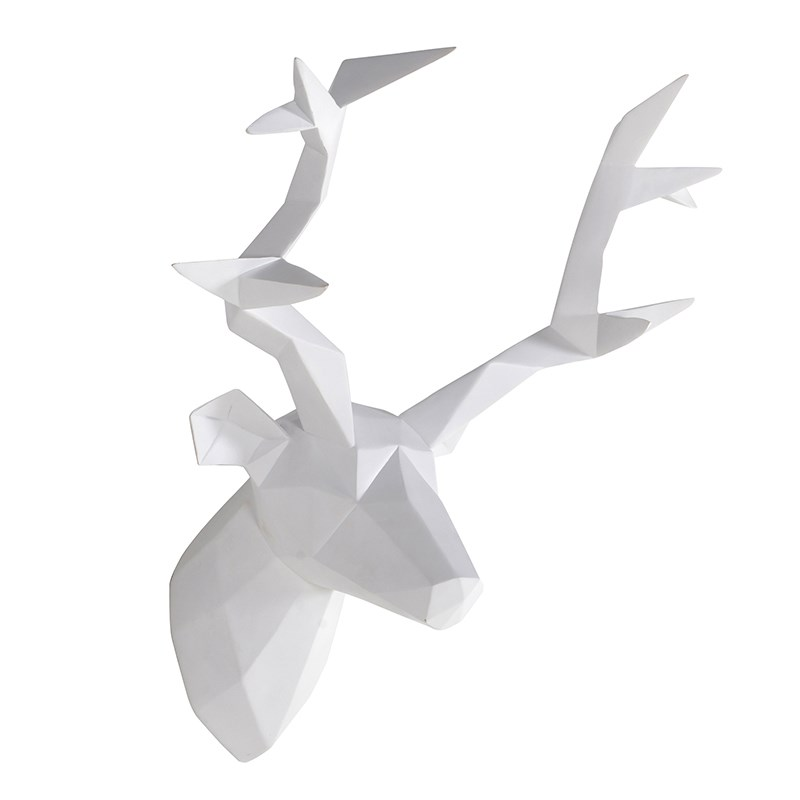 Geometric Stag Head