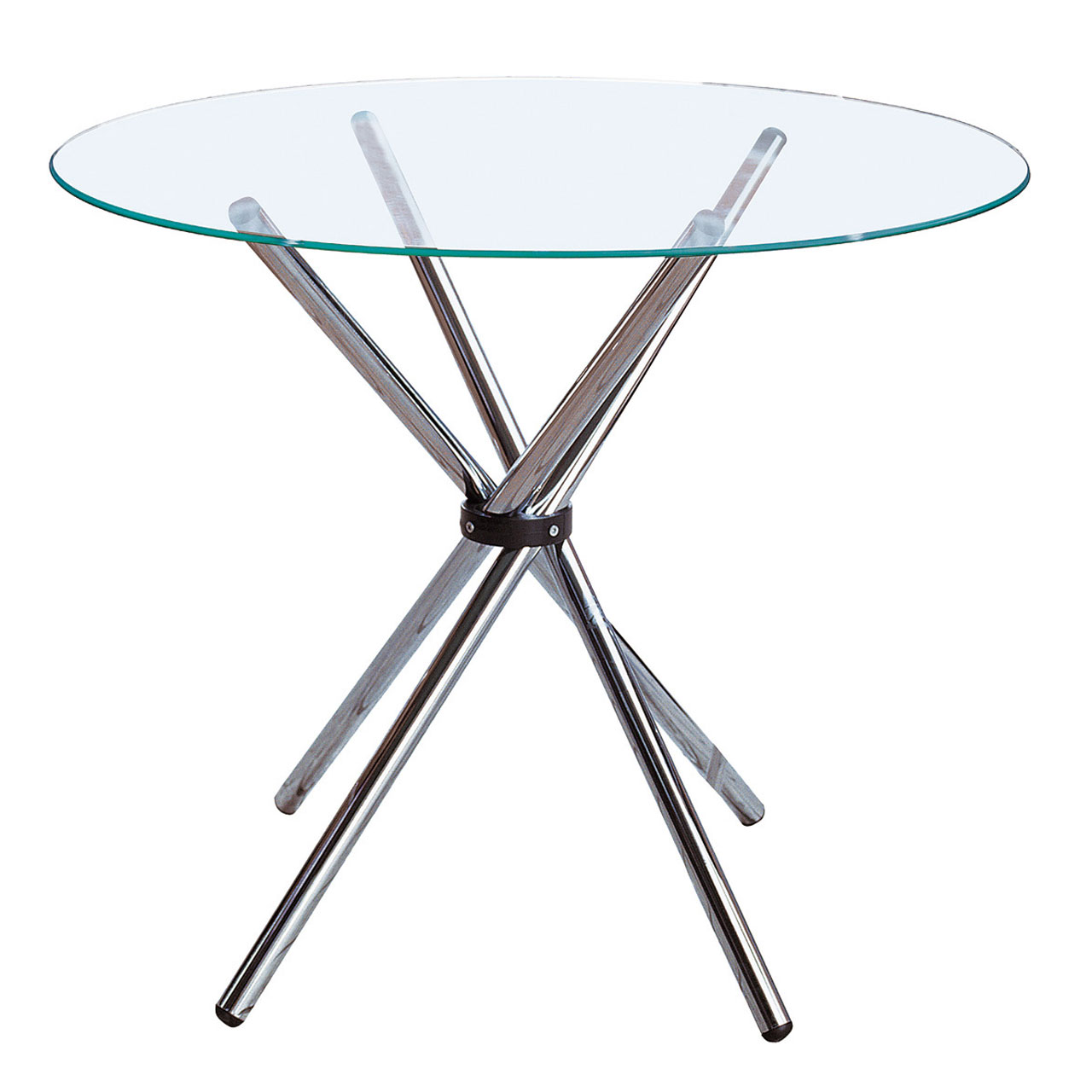 Dining Table Glass and Chrome Dining table