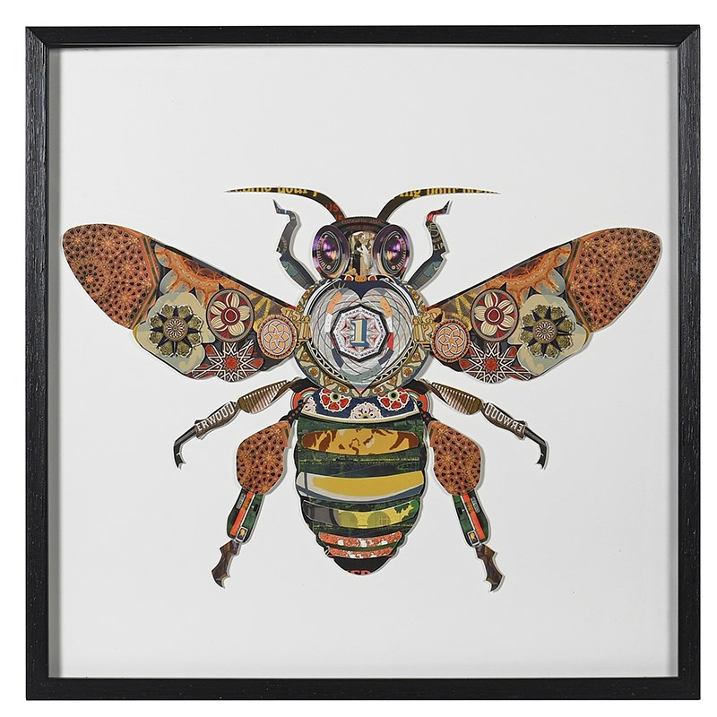 Bumble Bee collage framed art