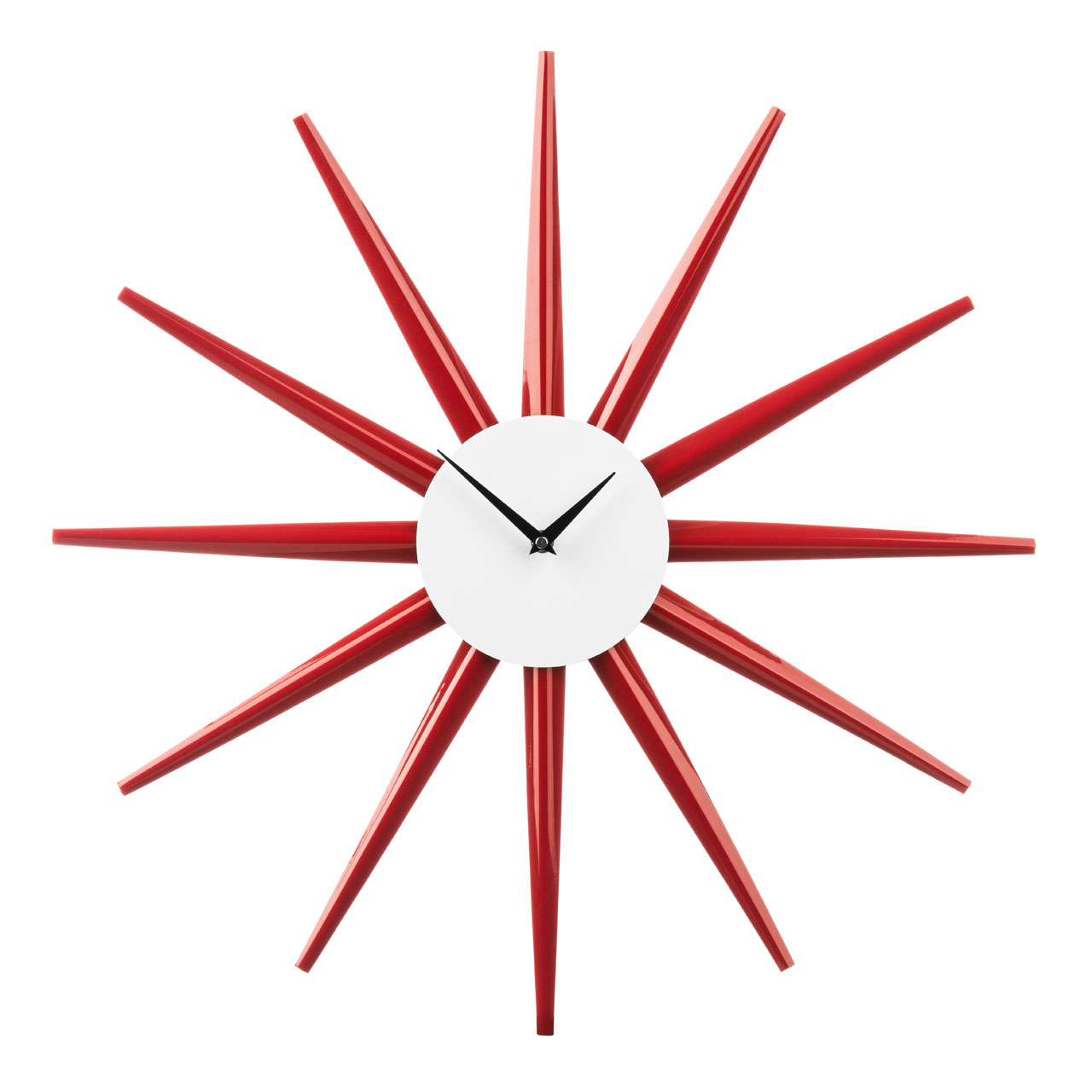 Starburst Red Retro Clock