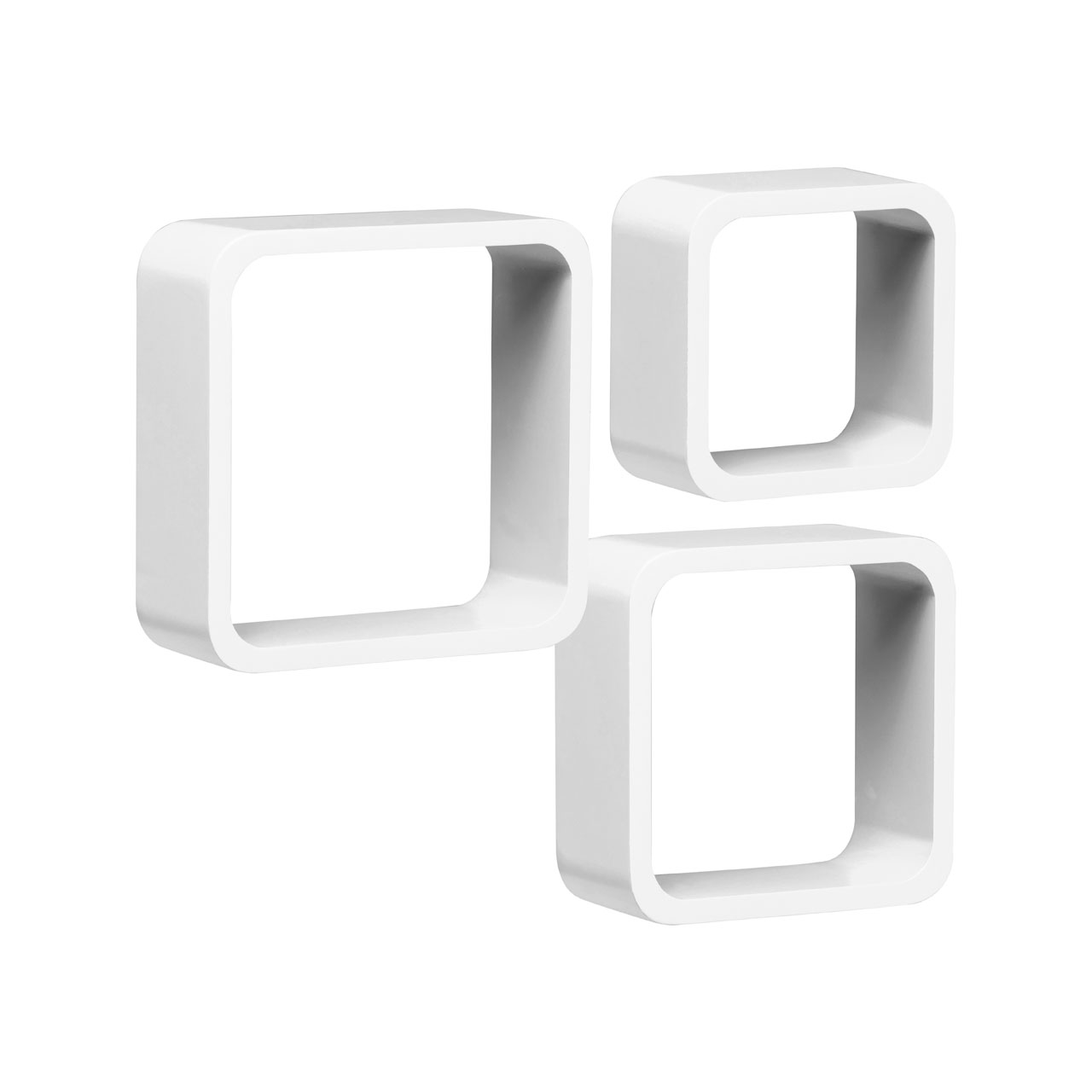 White Wall cube Shelves
