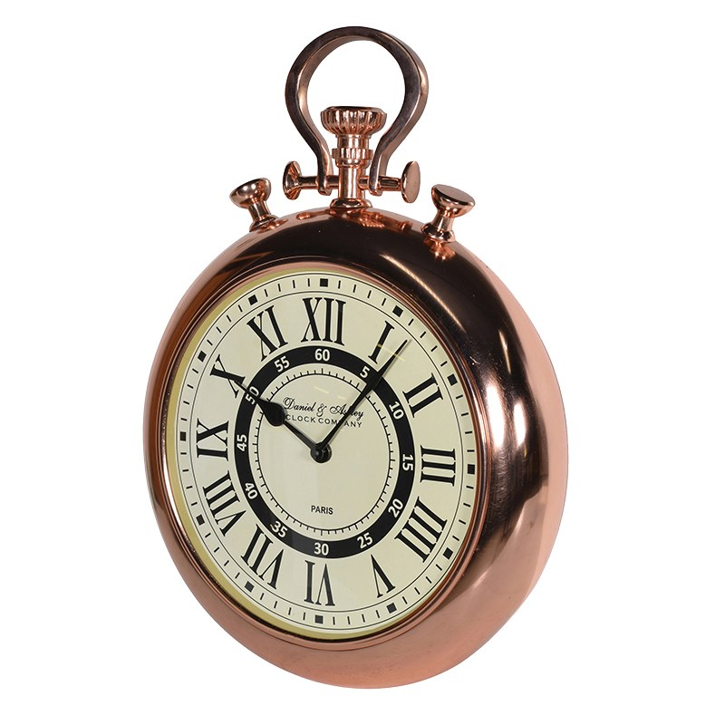 Clock - Copper Pocket Watch Style Wall Clock