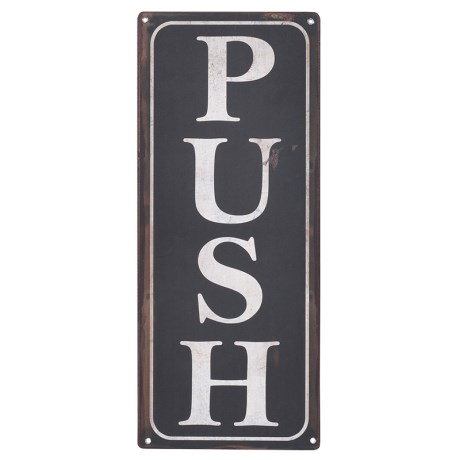 Push Pull door sign