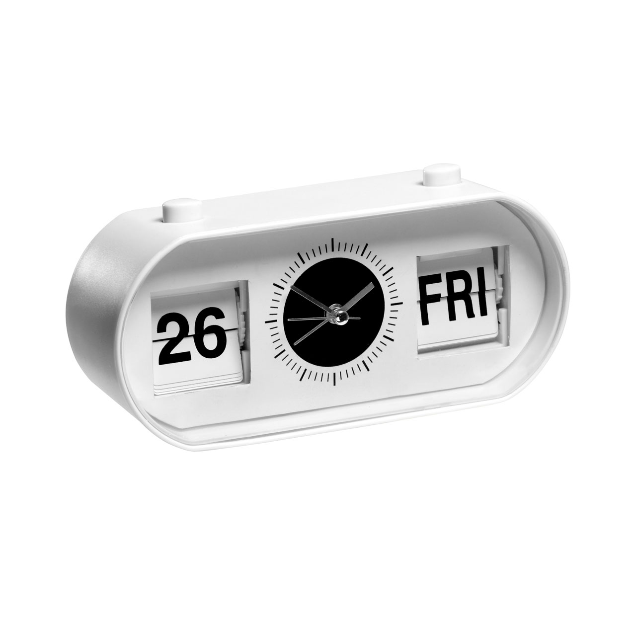 Retro White Alarm Clock